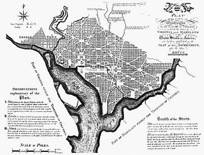 Washington, D.c. Plan, 1792 Art Print by Granger