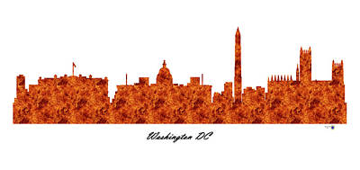 Mannequin Dresses - Washington DC Raging Fire Skyline by Gregory Murray