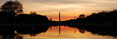 Photograph - Washington Dc Silhouette Panorama by Songquan Deng