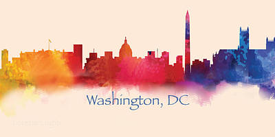Digital Art - Washington Dc Skyline II by Loretta Luglio