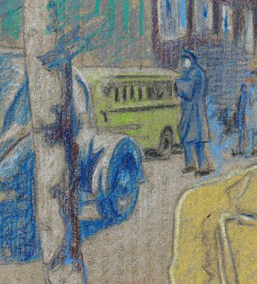 Street Car Drawing - Washington Dc Street 1942 by Ch' Brown