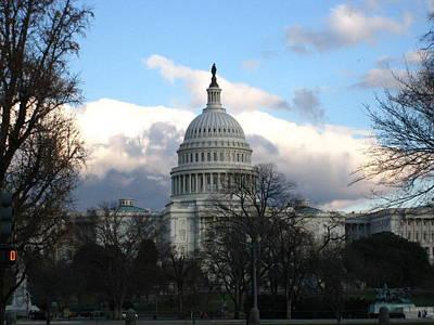 Freedom Photograph - Washington Dc - Us Capitol - 12125 by DC Photographer