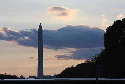 Standing Photograph - Washington Dc - Washington Monument - 01131 by DC Photographer