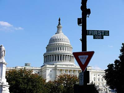 Washington Dc - Who Will Yield First? Art Print