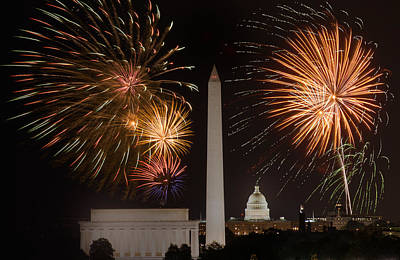 Washington Fireworks Art Print