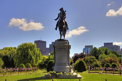 George Washington Photograph - Washington In The Garden by Joann Vitali