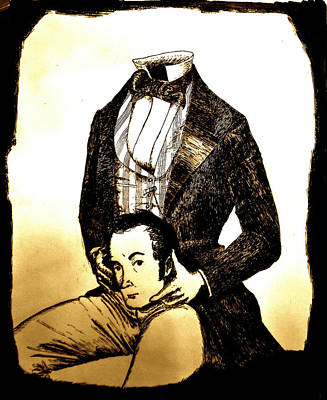 Headless Horseman Drawing - Washington Irving by Will  Carlson