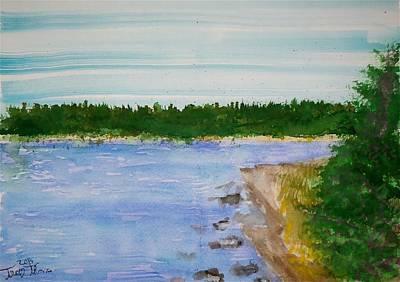 Washington Island Basswood Lake Original by Troy Thomas