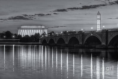 Photograph - Washington Landmarks At Dawn II by Clarence Holmes