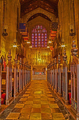 Washington Memorial Chapel Altar Art Print