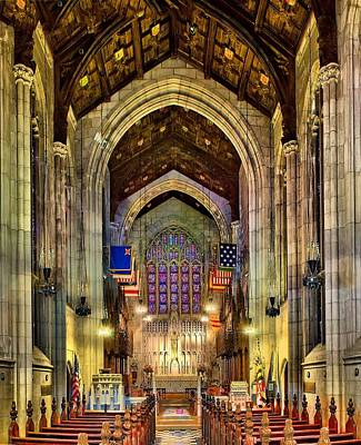 Photograph - Washington Memorial Chapel - Interior by Nick Zelinsky