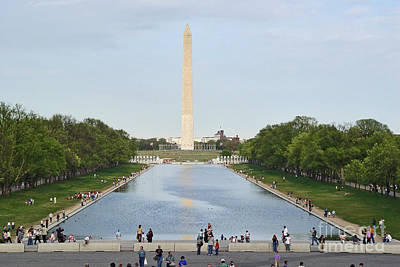 Art Print featuring the photograph Washington Monument 1 by Tom Doud