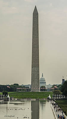 Photograph - Washington Monument And Us Capitol by Allen Sheffield