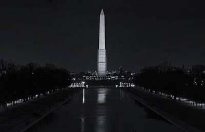 Washington Monument Wall Art - Photograph - Washington Monument At Night by Joan Carroll