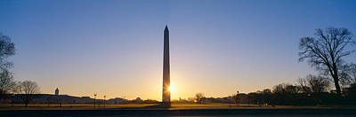 Washington Monument At Sunrise Art Print by Panoramic Images