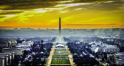 Washington Monument Digital Art - Washington Monument At Sunset by John Jack