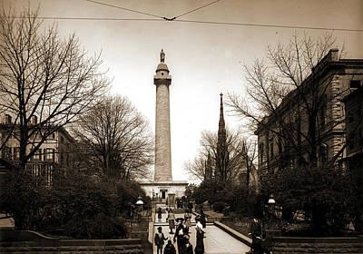 Washington Monument Drawing - Washington Monument, Baltimore, Jackson, William Henry by Litz Collection