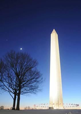 Washington Monument Digital Art - Washington Monument by C Wynn