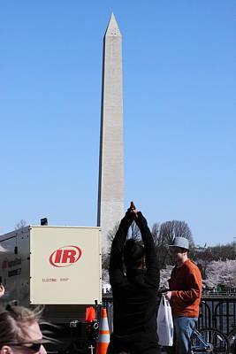Japanese Photograph - Washington Monument - Cherry Blossoms - Washington Dc - 01131 by DC Photographer