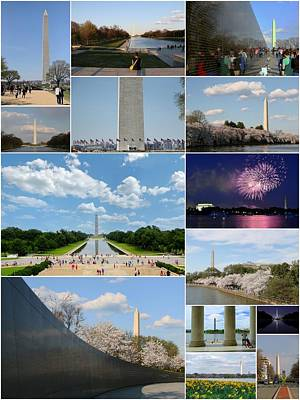Photograph - Washington Monument Collage 4 by Allen Beatty