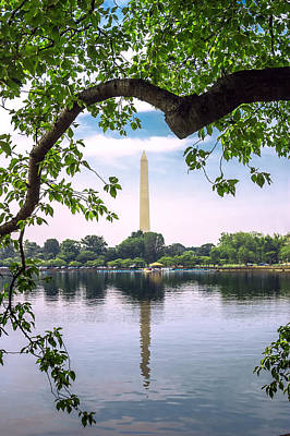 Photograph - Washington Monument Reflection by Mary Almond