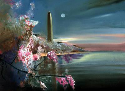 Washington Monument Painting - Washington Monument Twilight by Neal Cormier