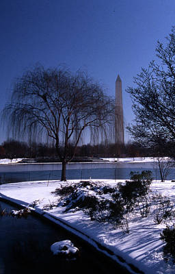 Politicians Royalty-Free and Rights-Managed Images - Washington Monument Winter  by Skip Willits