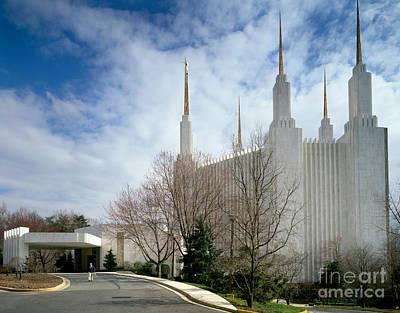 Washington Mormon Temple Art Print by Rafael Macia