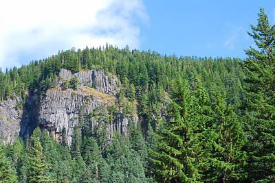 Photograph - Washington Mountainside Cliffs by Connie Fox