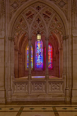 Photograph - Washington National Cathedral Colors by Susan Candelario