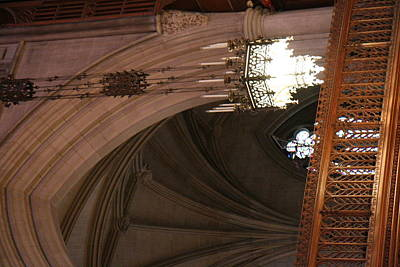 Glass Photograph - Washington National Cathedral - Washington Dc - 0113102 by DC Photographer