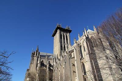 Gothic Photograph - Washington National Cathedral - Washington Dc - 0113126 by DC Photographer