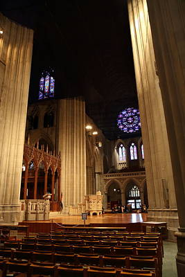 Hall Photograph - Washington National Cathedral - Washington Dc - 011314 by DC Photographer