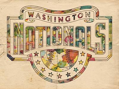 Painting - Washington Nationals Poster Art by Florian Rodarte