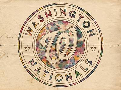 Painting - Washington Nationals Vintage Art by Florian Rodarte