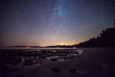 Washington Olympic Night Sky Meteor Art Print