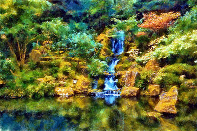 Digital Art - Washington Park Waterfall by Kaylee Mason