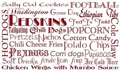 Digital Art - Washington Redskins Game Day Food 1 by Andee Design