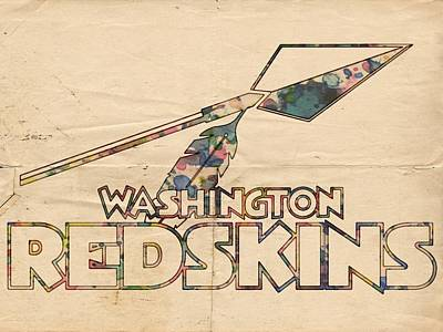 Painting - Washington Redskins Vintage Logo by Florian Rodarte