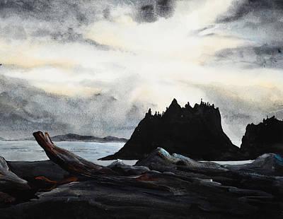 Painting - Washington Shoreline by Richard Mordecki