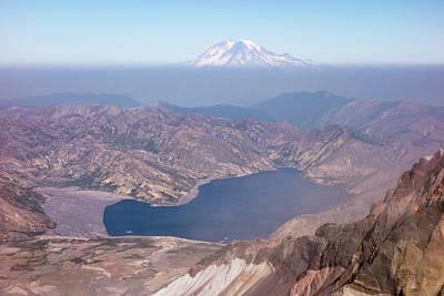 Washington Spirit Lake And Mount Print by Matt Freedman