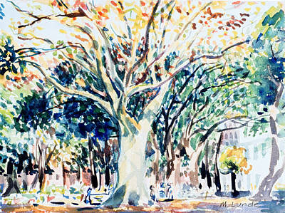 Painting - Washington Square Fall by Mark Lunde