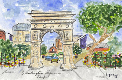 Painting - Washington Square Park by AFineLyne