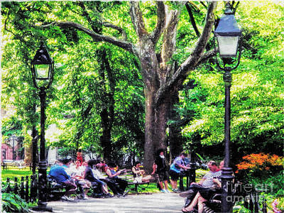 Photograph - Washington Square Park Nyc In The Shade by Anne Ferguson