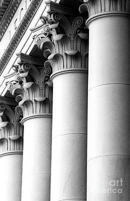 Photograph - Washington State Capitol Columns by Merle Junk