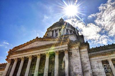 Photograph - Washington State Capitol by Phillip Garcia