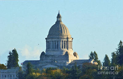 Washington State Capitol Art Print