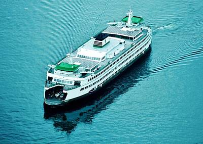 Photograph - Washington State Ferry by Benjamin Yeager
