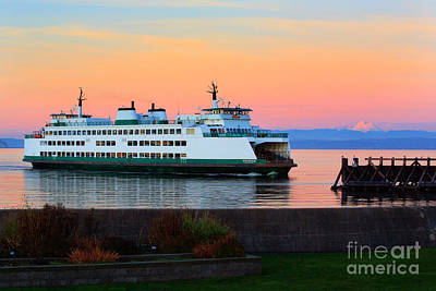 Photograph - Washington State Ferry by Inge Johnsson