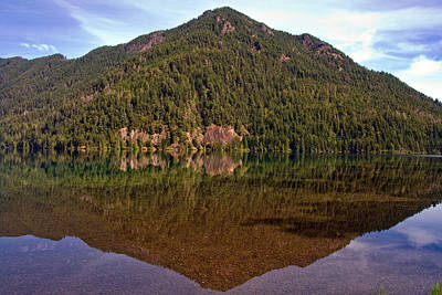 Photograph - Washington State - Lake Crescent Reflection by Phil Stone